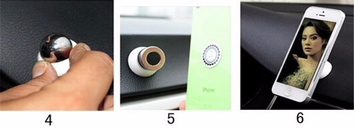Návod na instalaci magnetického držáku - instalace držáku v autě 4