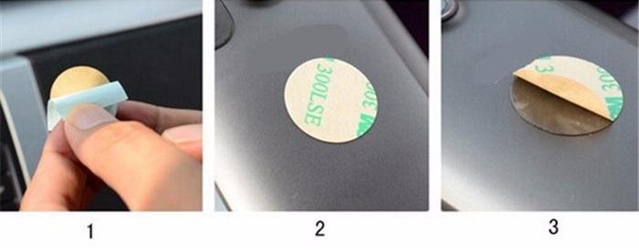Návod na instalaci magnetického držáku - instalace destičky na mobil 1