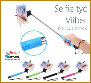 selfie tyč se spouští