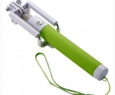Zelená selfie tyč