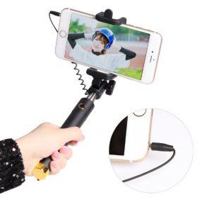 selfie tyč s tlačítkem iphone